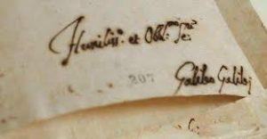 Autografo di Galileo
