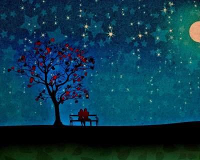 Notte romantica sotto le stelle