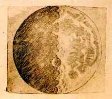Disegno della Luna nel Sidereus Nuncius