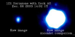 (121) Hermione e il suo satellite