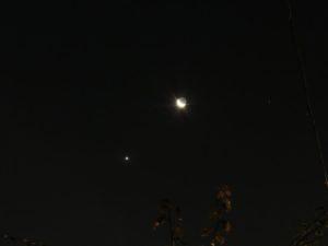 Congiunzione Luna - 82 Vir, non lontane da Venere
