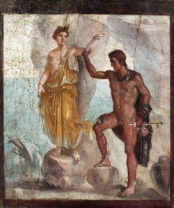 Affresco di Andromeda e Perseo, 62 - 79 d.C; Casa dei Dioscuri, Pompei.