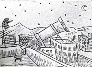 Un telescopio sul tetto
