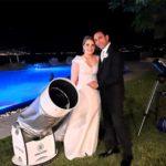 Osservazioni al telescopio per un matrimonio a tema astronomico